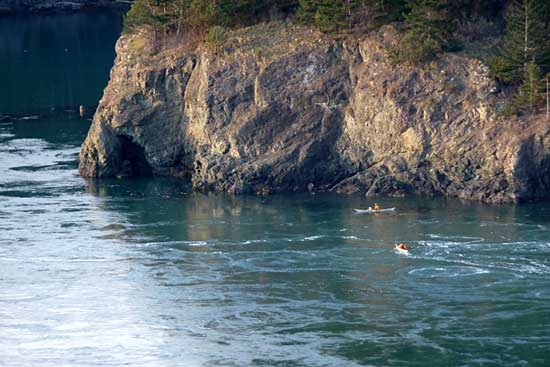 Kayakers at Deception Pass