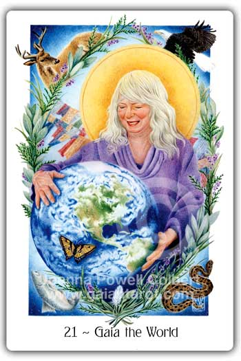 Gaian Tarot - Gaia the World