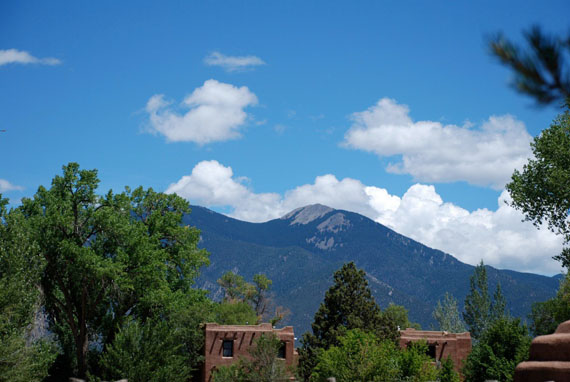 Taos Mountain from Mabel Dodge Luhan House