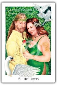 Gaian Tarot Lovers