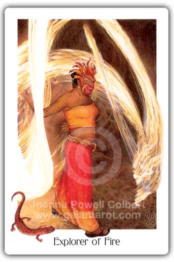 Gaian Tarot Explorer of Fire