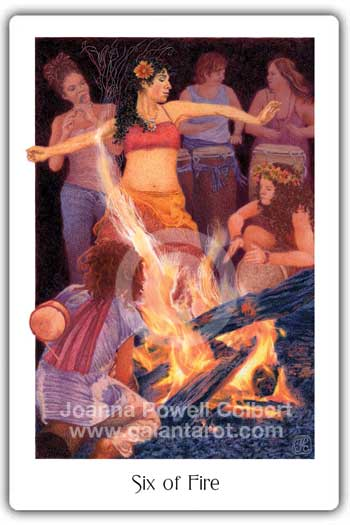 Gaian Tarot Six of Fire
