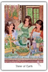 Gaian Tarot Three of Earth