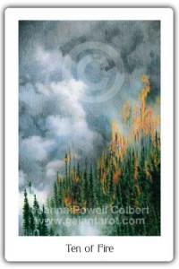 Gaian Tarot Ten of Fire