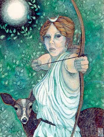 the story of the godess of chastity artemis