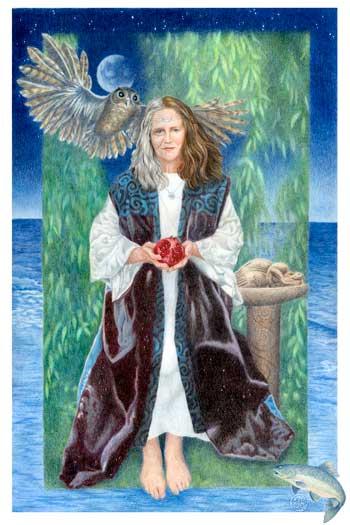 Gaian Tarot Priestess by JPC, 2002