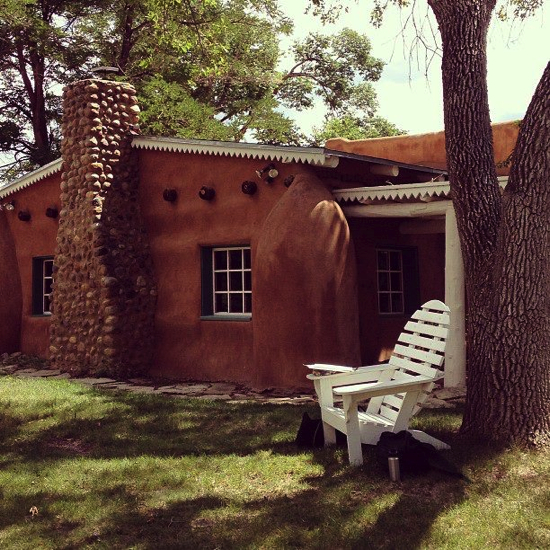 Writing spot at Mabel Dodge Luhan House, Taos, NM