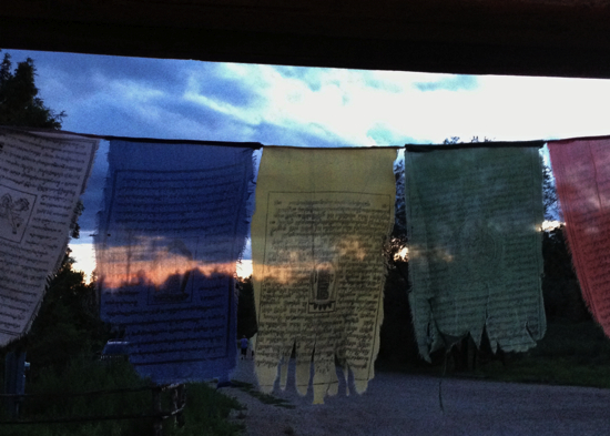 Prayer flags at Mabel's