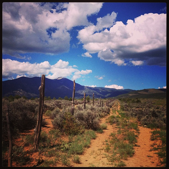 Walking the Taos pueblo lands