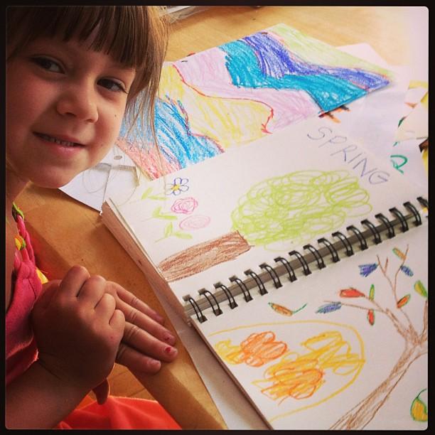 Gracie, art journal