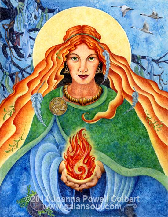 Art Print Brigid S Fire The Offering