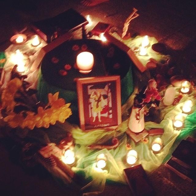 Sprng Equinox altar