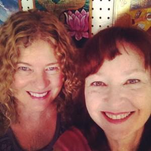 Lisa & Joanna in Lisa's Santa Fe studio