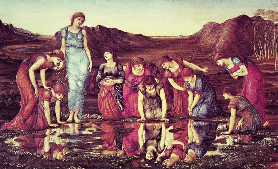 Mirror of Venus, Burne-Jones, 1875
