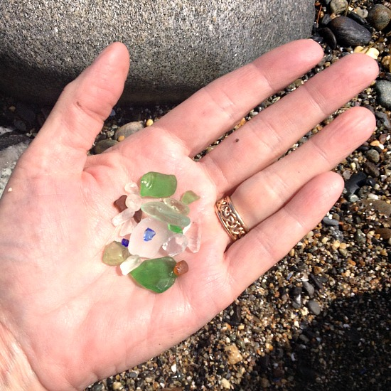 sea glass in Joanna's hand