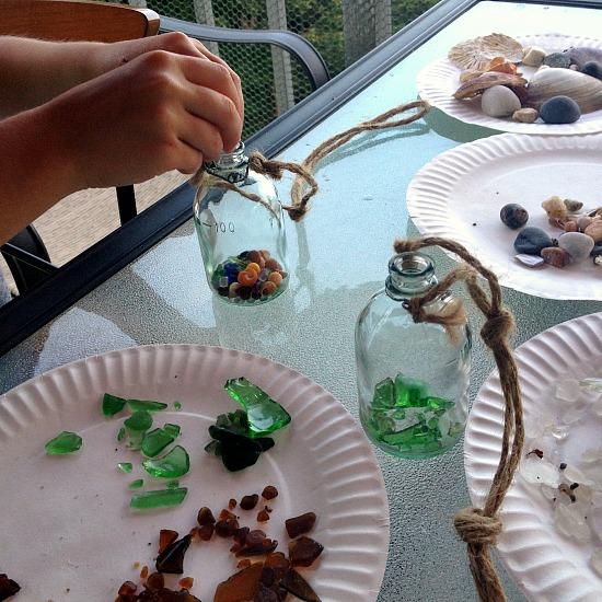 Sea glass sorting
