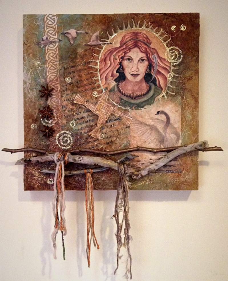 Create a Brigid Prayer Painting in Mixed Media Collage