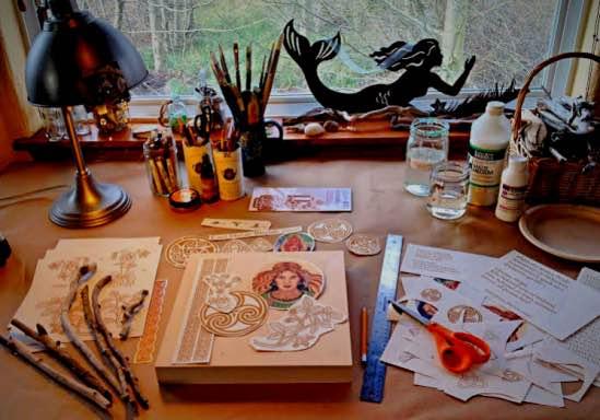 Art table, work in progress