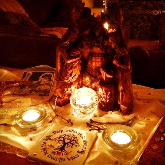 Imbolc / Brigid altar