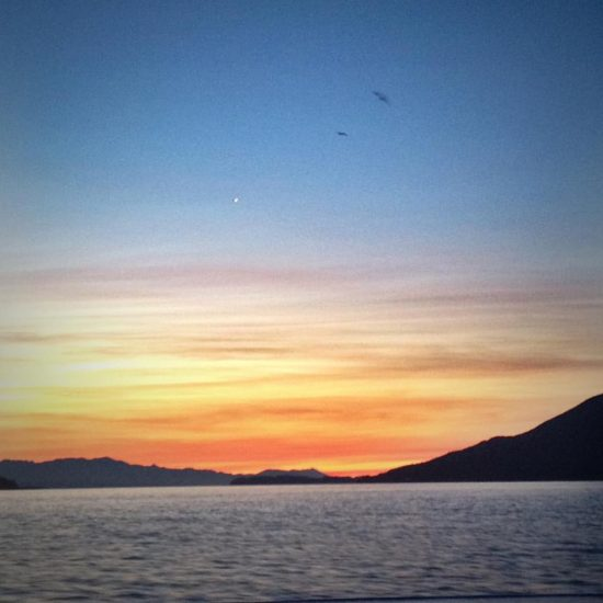 Good Morning Salish Sea! (On the ferry, headed for town).