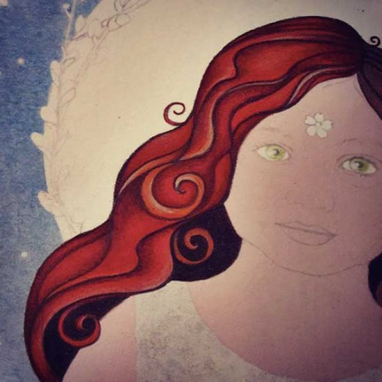 Girl of Grace detail, hair