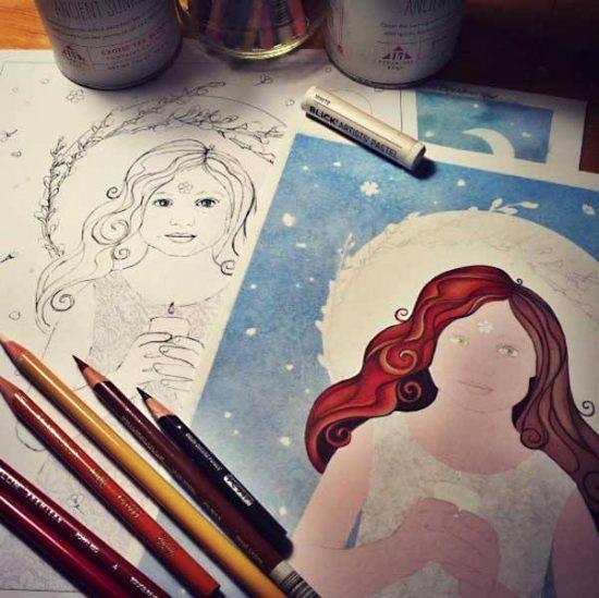 Girl of Grace in progress