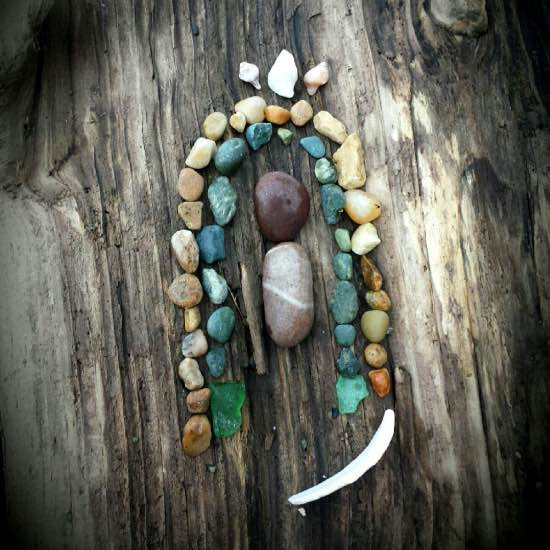 A friend and her girls made this Guadalupe out of beach stones for me. I love it more than I can say!
