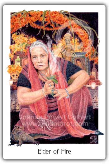 Gaian Tarot Elder of Fire