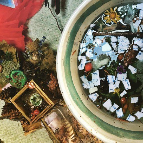 Sacred well of letters, sea water, rain water, elixir of Aldermarsh, and tears.