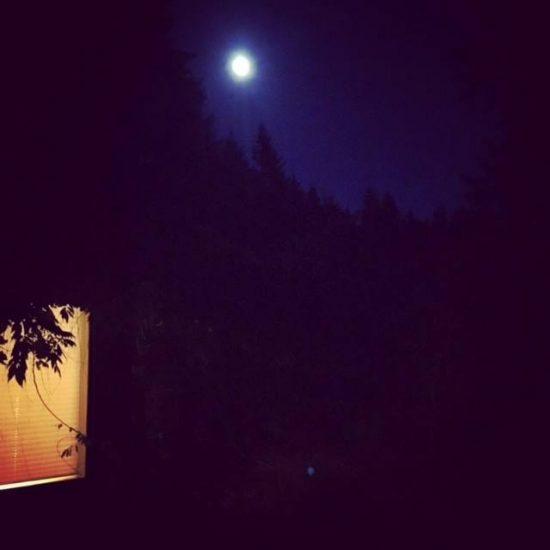 Full moon rise over Marsh House.