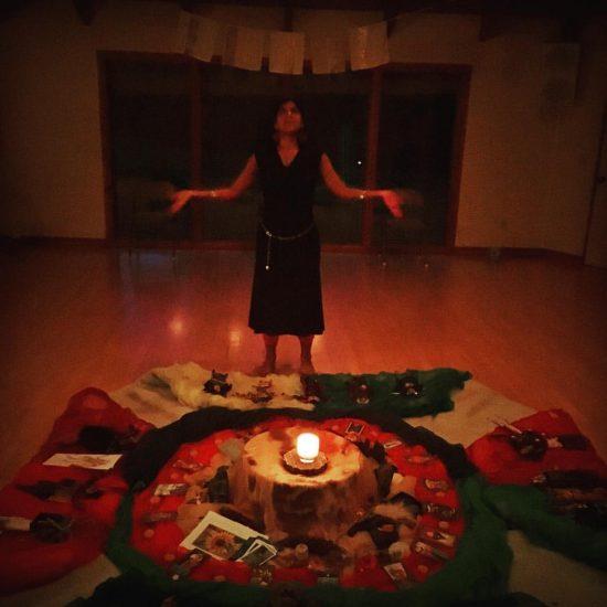 Jennifer Lucero-Earle led us into dancing our Dark Goddesses.