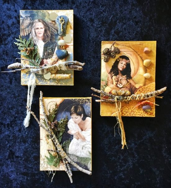 Tarot Icons, Mixed Media Collage