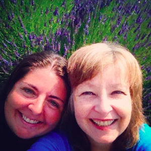 Latisha and Joanna in the lavender fields