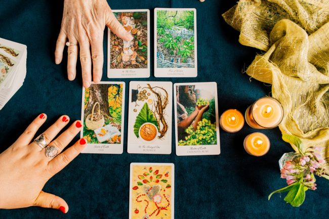 Herbcrafter's Tarot cards and hands