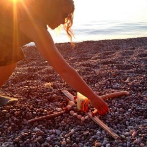 Summer Solstice beach altar