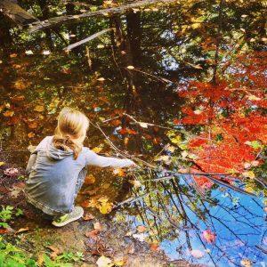Grace, autumn woods