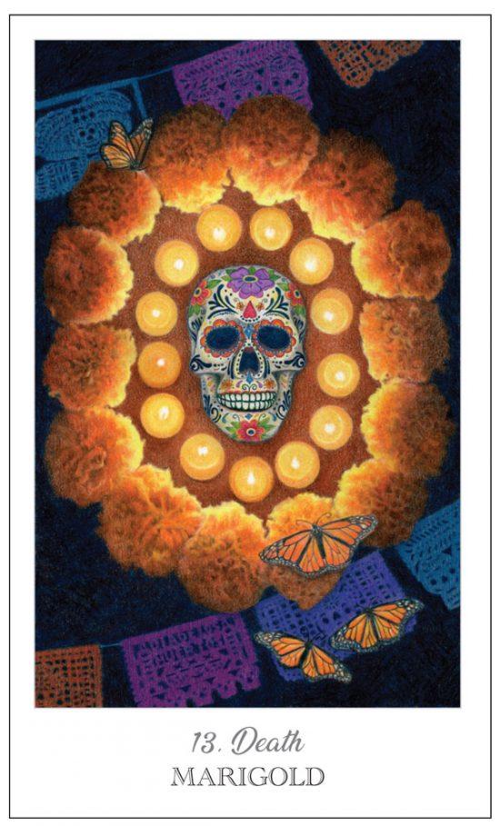 Death / Marigold, Herbcrafter's Tarot