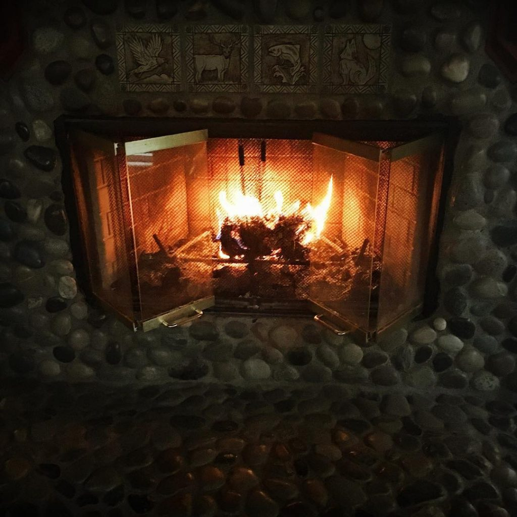 Fireplace at Heron House